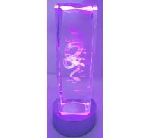 3D Laser Crystal I love you