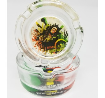 The Bob Marley Glass Ashtray