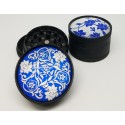 Tabacco Grinder DNK Black Color 3 Piece
