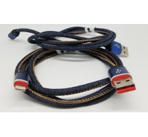 Iphone cable Thick jean braided