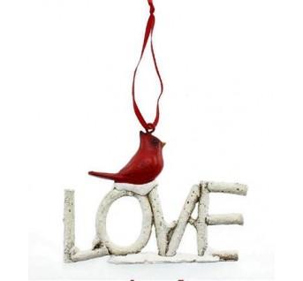 CARDINAL ORNAMENT LOVE
