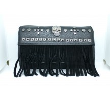 Eye Lash Fringe with Skull Wallet Clutch
