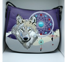 Lone Wolf & Dreamcatcher Hip Bag