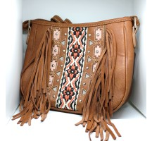 Skull Eye Lash Fringe Hip Bag