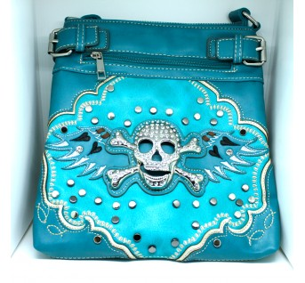 Embroidered Skull Purse