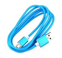 1.5m colorful nylon braided round usb cable