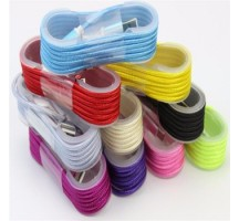 1.5m colorful nylon braided round usb cable Iphone